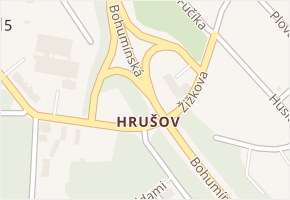 Hrušov v obci Ostrava - mapa části obce
