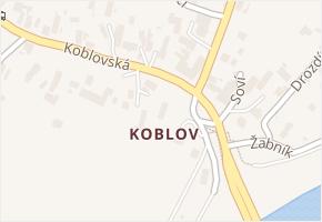 Koblov v obci Ostrava - mapa části obce
