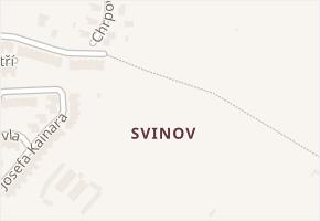Svinov v obci Ostrava - mapa části obce