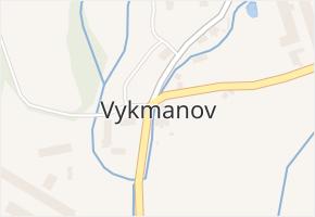 Vykmanov v obci Ostrov - mapa části obce