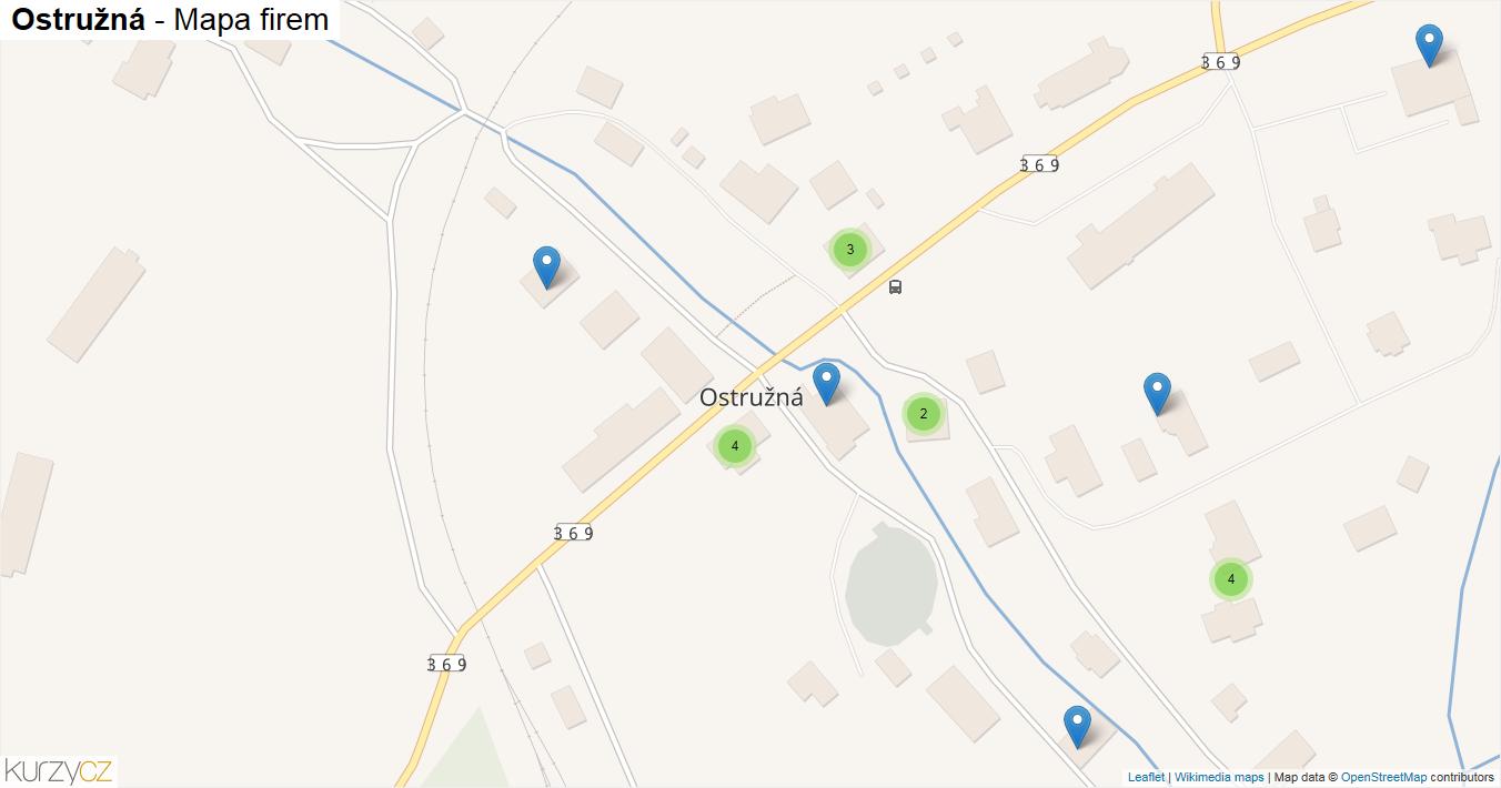 Ostružná - mapa firem