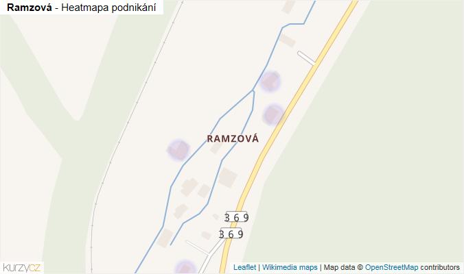 Mapa Ramzová - Firmy v části obce.