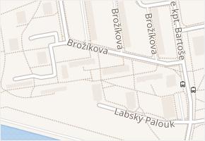 Brožíkova v obci Pardubice - mapa ulice