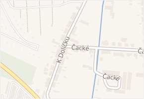 K Dolíčku v obci Pardubice - mapa ulice