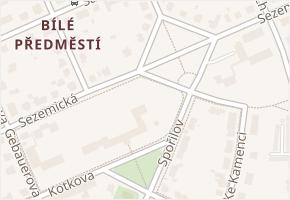 Sezemická v obci Pardubice - mapa ulice