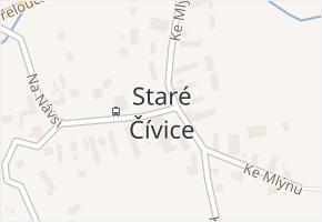 Staré Čívice v obci Pardubice - mapa části obce