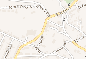 U Dobré Vody v obci Pchery - mapa ulice
