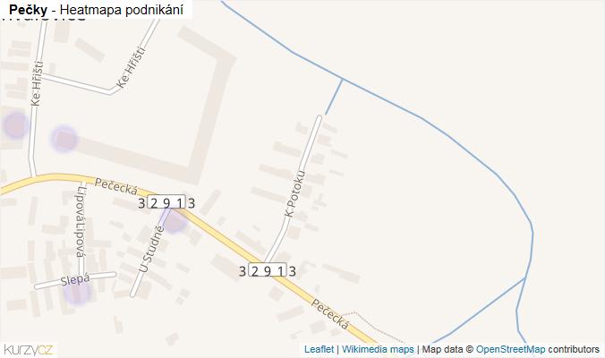 Mapa Pečky - Firmy v obci.