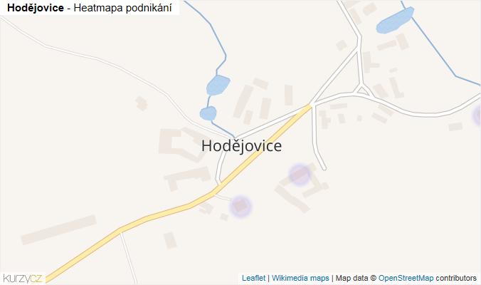 Mapa Hodějovice - Firmy v části obce.