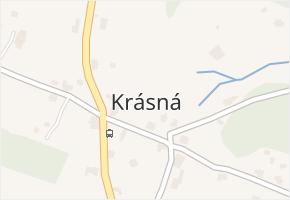 Krásná v obci Pěnčín - mapa části obce