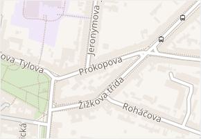 Prokopova v obci Písek - mapa ulice