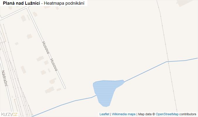 Mapa Planá nad Lužnicí - Firmy v obci.