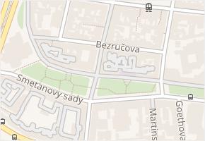 Bezručova v obci Plzeň - mapa ulice