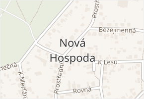 Nová Hospoda v obci Plzeň - mapa části obce