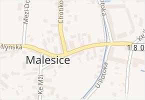 Plzeň 9-Malesice v obci Plzeň - mapa městské části