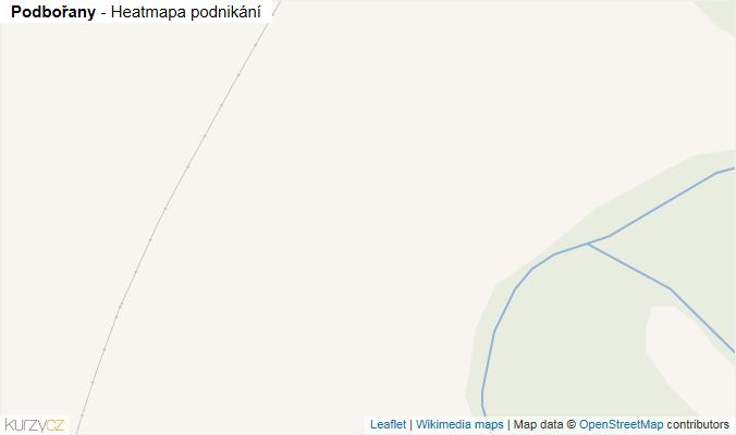 Mapa Podbořany - Firmy v obci.