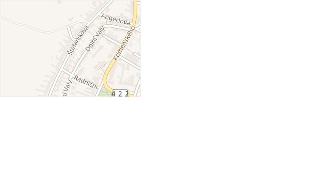 Štefanikova v obci Podivín - mapa ulice