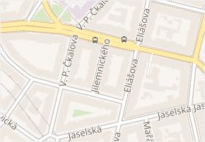 Čs. armády v obci Praha - mapa ulice