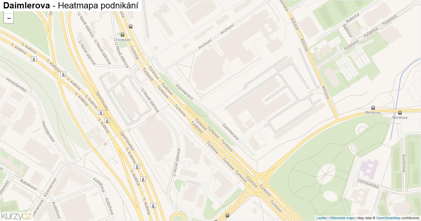 Daimlerova - mapa podnikání