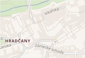 Hradčany v obci Praha - mapa části obce