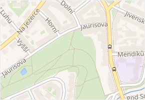 Jaurisova v obci Praha - mapa ulice