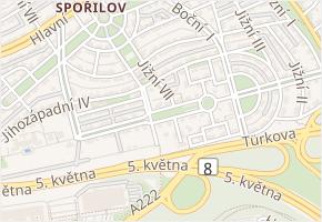 Jižní VII v obci Praha - mapa ulice