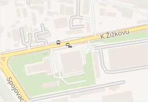 K Žižkovu v obci Praha - mapa ulice