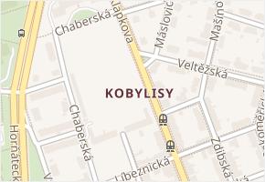 Kobylisy v obci Praha - mapa části obce