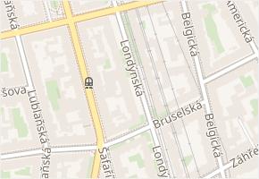 Londýnská v obci Praha - mapa ulice