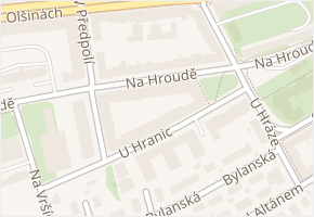 Na hroudě v obci Praha - mapa ulice