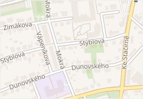 Praha 11 v obci Praha - mapa městské části