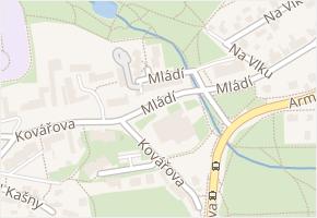 Praha 13 v obci Praha - mapa městské části