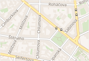 Prokopova v obci Praha - mapa ulice