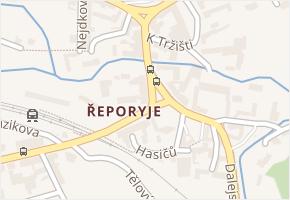 Řeporyje v obci Praha - mapa části obce