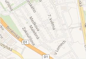 U kolonie v obci Praha - mapa ulice