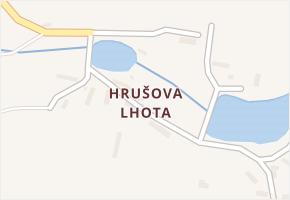 Hrušova Lhota v obci Přehořov - mapa části obce