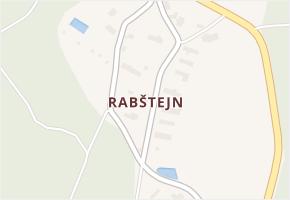 Rabštejn v obci Rabštejnská Lhota - mapa části obce