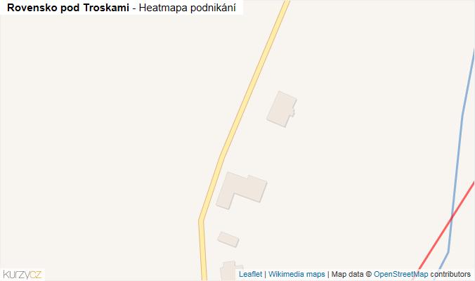 Mapa Rovensko pod Troskami - Firmy v obci.