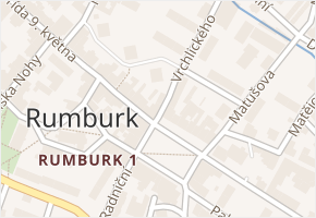 Vrchlického v obci Rumburk - mapa ulice