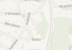 V nové čtvrti v obci Senohraby - mapa ulice