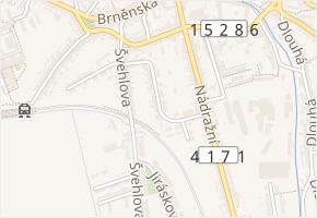 Štefanikova v obci Šlapanice - mapa ulice
