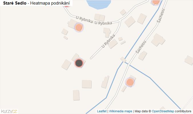 Mapa Staré Sedlo - Firmy v obci.