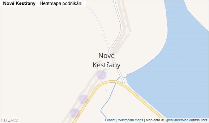Mapa Nové Kestřany - Firmy v části obce.