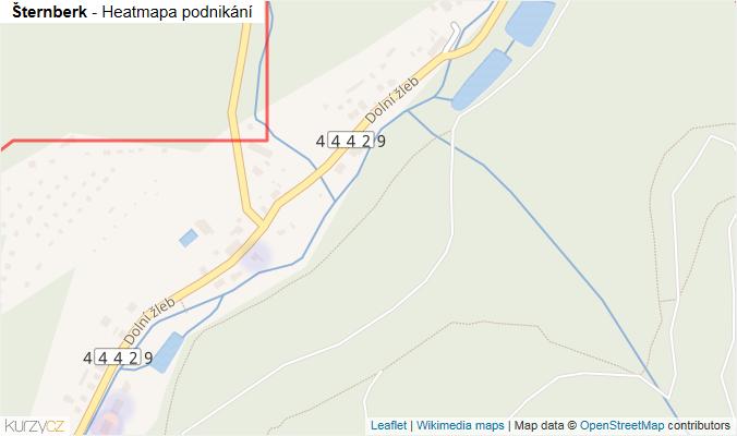 Mapa Šternberk - Firmy v obci.