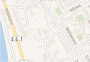 Čs. armády v obci Štětí - mapa ulice
