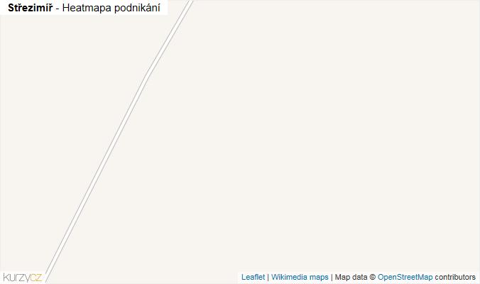 Mapa Střezimíř - Firmy v obci.