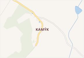 Kamýk v obci Švihov - mapa části obce