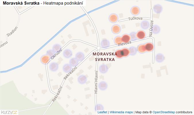 Mapa Moravská Svratka - Firmy v části obce.