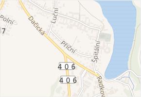 Příční v obci Telč - mapa ulice