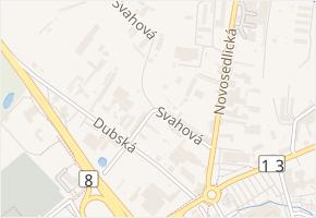 Svahová v obci Teplice - mapa ulice